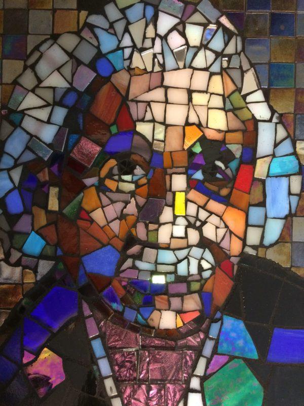 Albert Einstein mosaic
