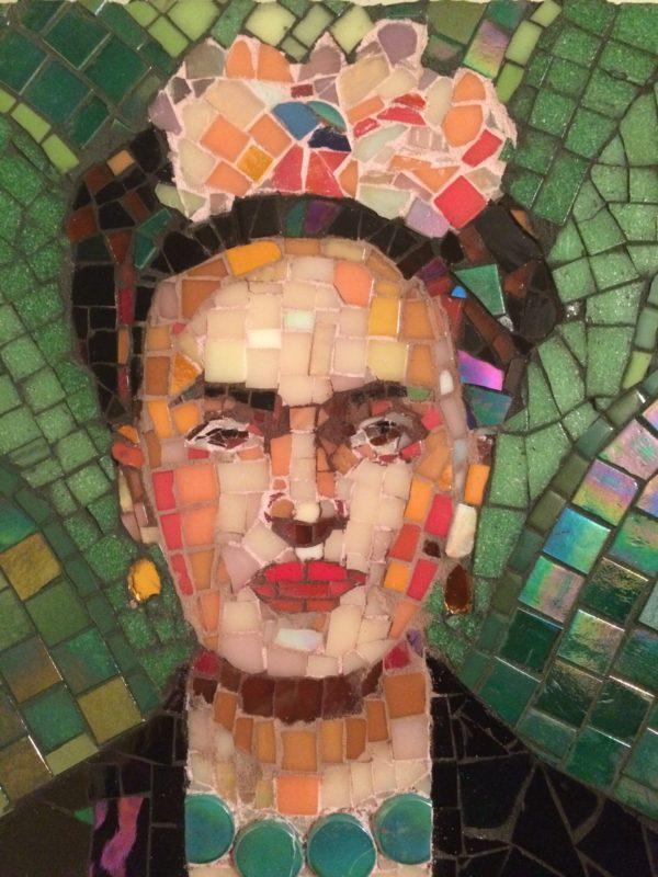 Frida Kahlo mosaic.