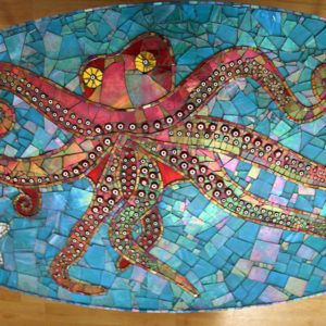 Octopus Mosaic Table