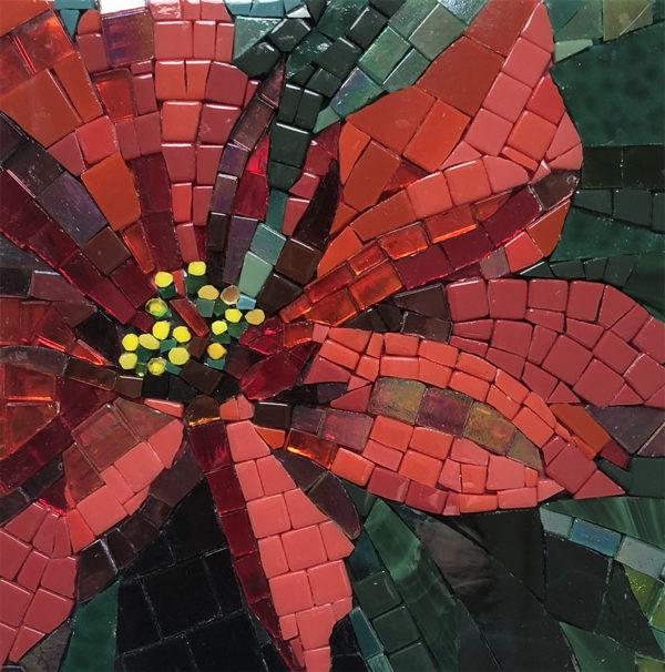 Poinsettia mosaic
