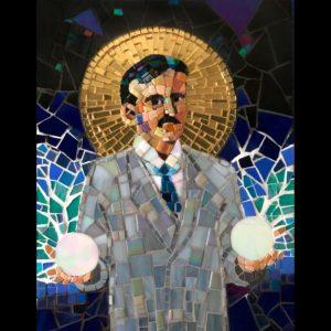Mosaic of Nikola Tesla